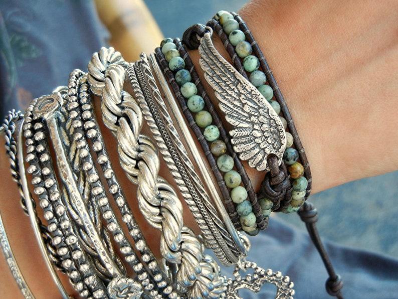Boho Wrap Bracelet Modern Bohemian Jewelry Boho Bracelet image 0