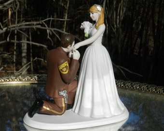 Us Army Military Soldier Prince Wedding Cake Topper Kneel Etsy