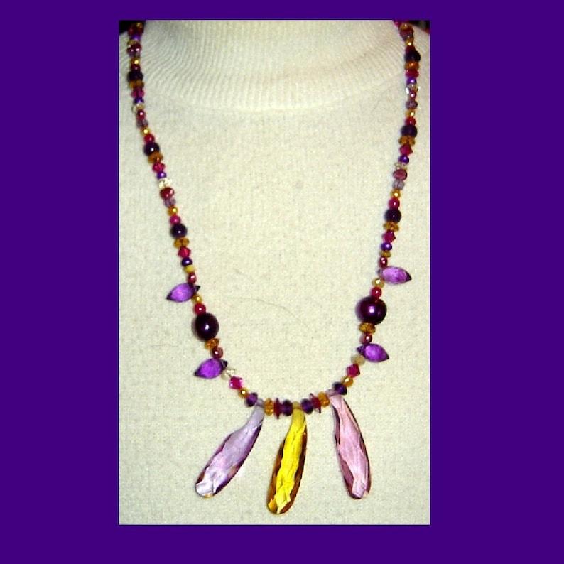 Rainbow Crystal Pendant Necklace image 0