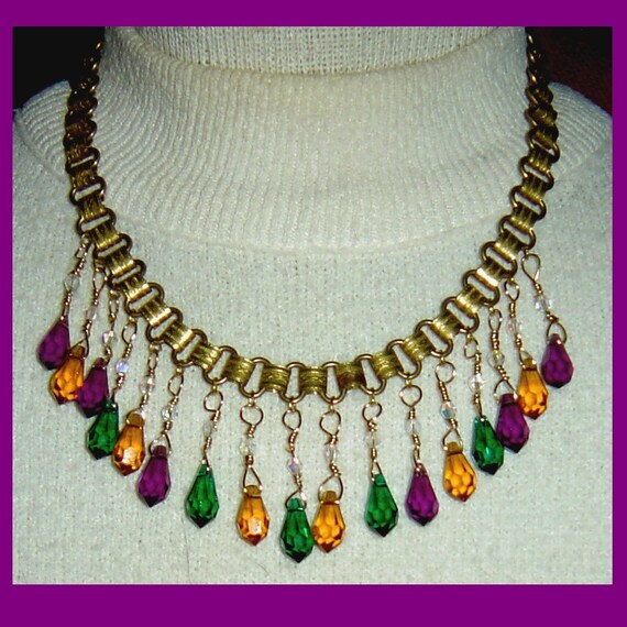 Conjunto De Collar Aretes Mariposas Naranja Amarillo utilice cristales de Swarovski en caja