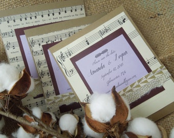 Vintage Sheet Music Save the Dates