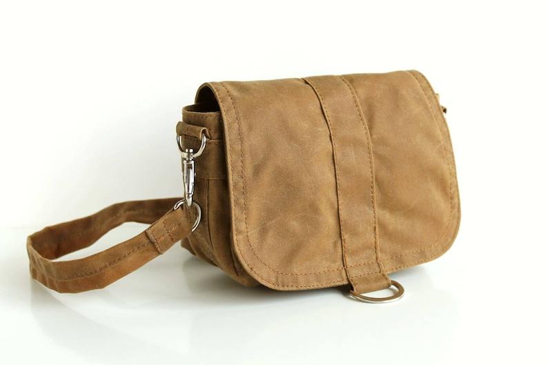 dfc88b57f256 Waxed canvas hip bag waxed canvas pouch gold shoulder bag | Etsy