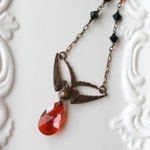 Swoop Bird Necklace / As Seen on The Vampire Diaries Necklace worn by Bonnie / Vampire Diary Original Jewelry by Wallis Designs /seen on TVD