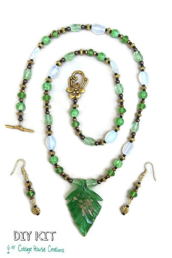 Chlo Jewelry Making Bead Supply Necklace Kit With Step By Etsy