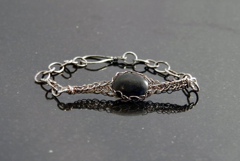 Jet Chain Bracelet image 0