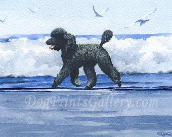 a07f36d3e5bf Standard Black Poodle Art Print