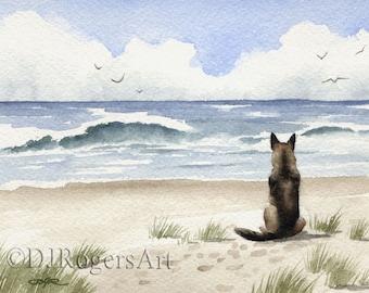 GERMAN SHEPHERD Art Print by Watercolor Artist DJ Rogers