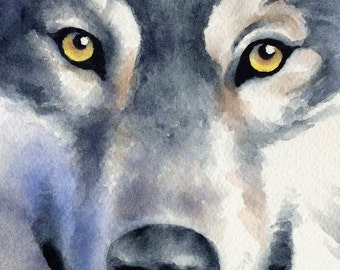 "WOLF Art Print ""Wildlife"" Art Print Signed by Artist DJ Rogers"