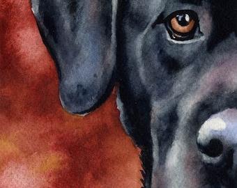 BLACK LAB Art Print by Watercolor Artist DJ Rogers
