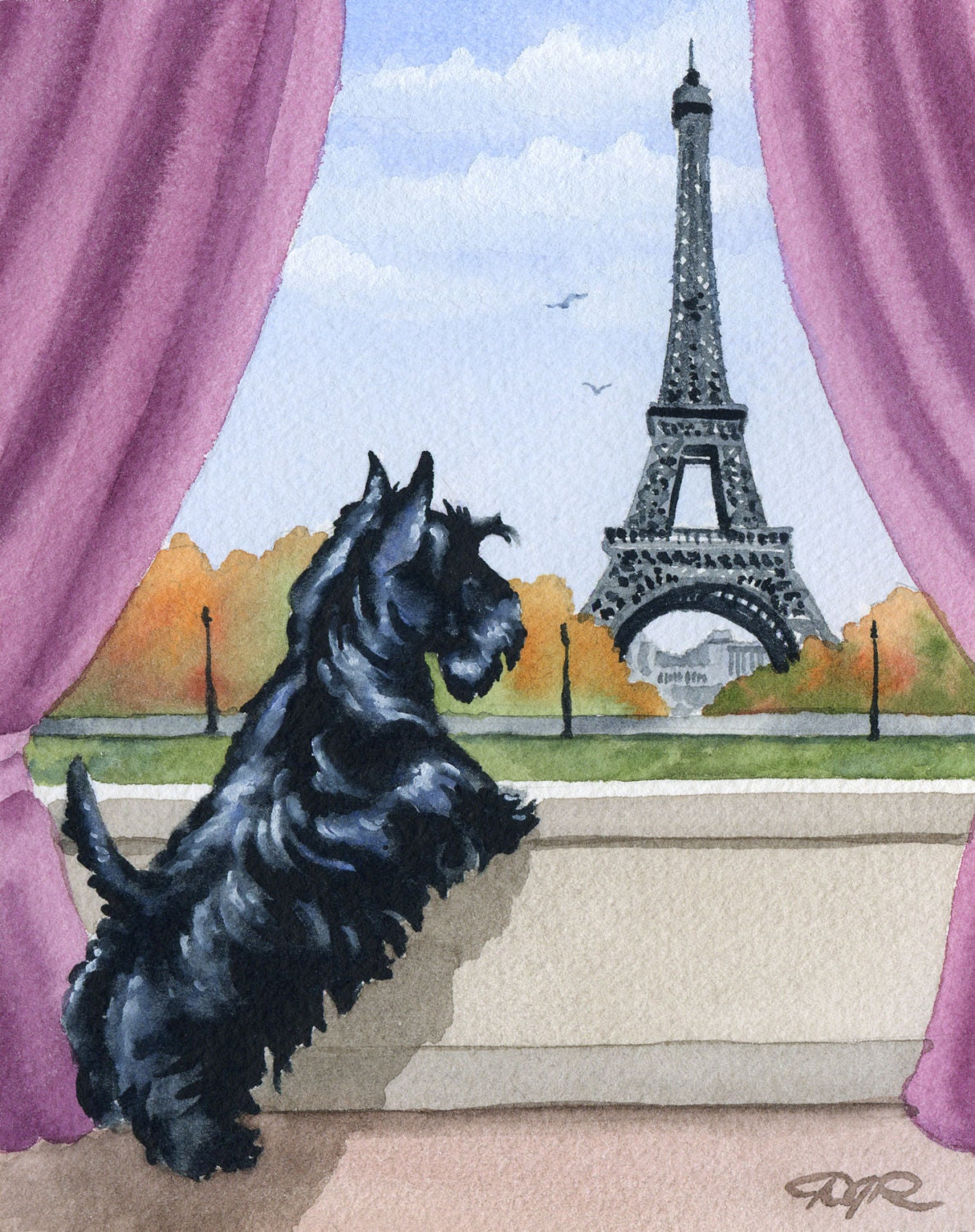 scottish terrier don t scottish terrier art print scottish terrier in etsy 9847