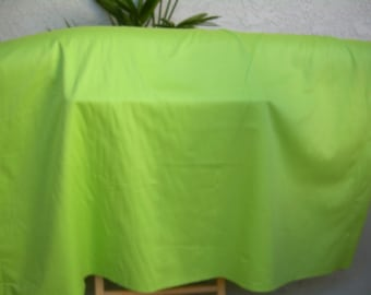 ORGANIC COTTON Fabric, lime green, sateen ,112 inches wide