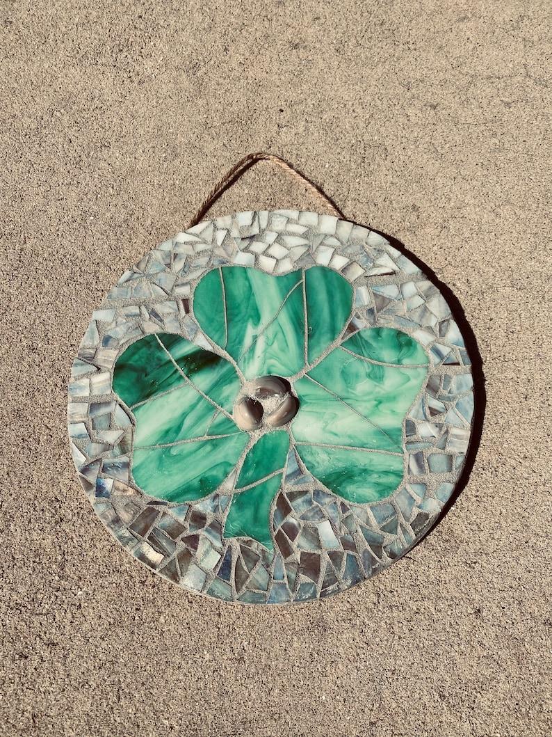 Stained Glass Mosaic Shamrock