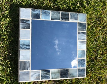 Grey Square Mirror