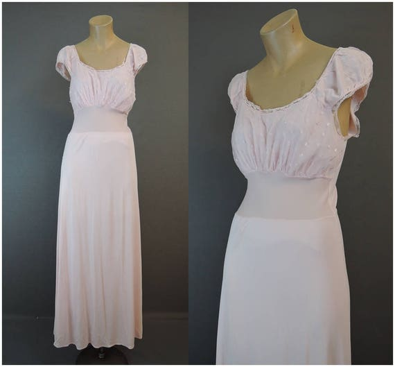 Vintage Nightgown 1950s Pink Nightgown 36 bust Nightgown  9a30c3d52