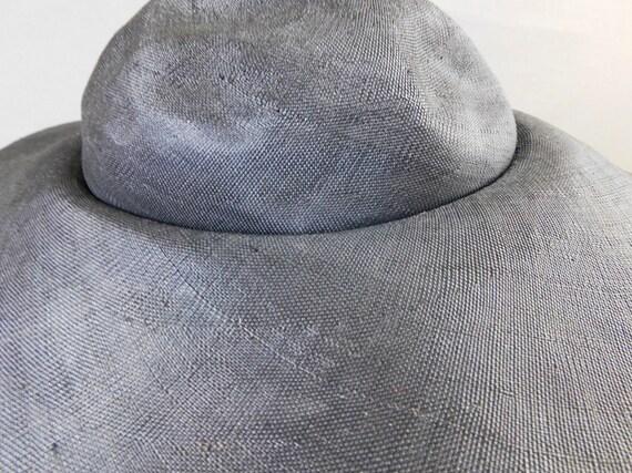Vintage Black Straw Wide Brim Hat with chin ties,… - image 8