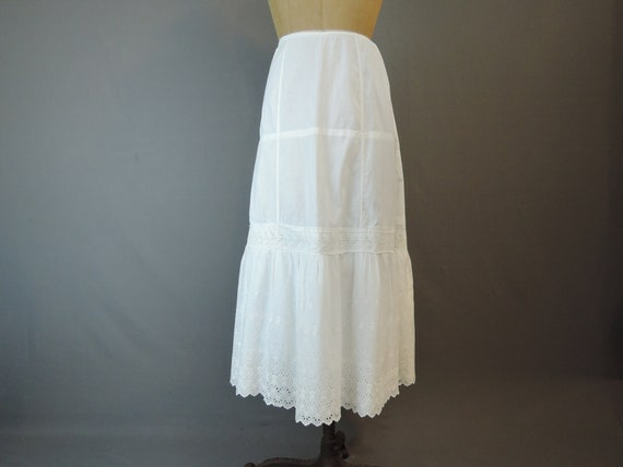 Antique Edwardian Petticoat, drawstring waist fits