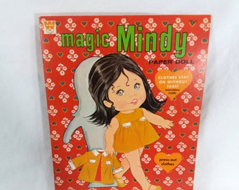 VTG 1970 Magic Mindy Paper Doll Never Used by Whitman