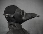 """Plague Doctor mask """"Bubonis"""" in leather"""