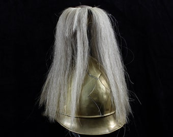 Antique Brass Helmet with Horsehair Plume