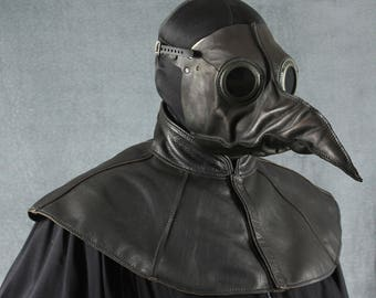 ghost Horror Simple Plague Doctor Medieval Doctor leather CApe, Steampunk