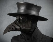 Plague Doctor Hat in Black Leather