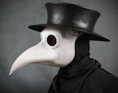 Plague Doctor's mask Maximus in white leather
