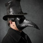 """Plague Doctor mask in black leather """"Schnabel"""""""