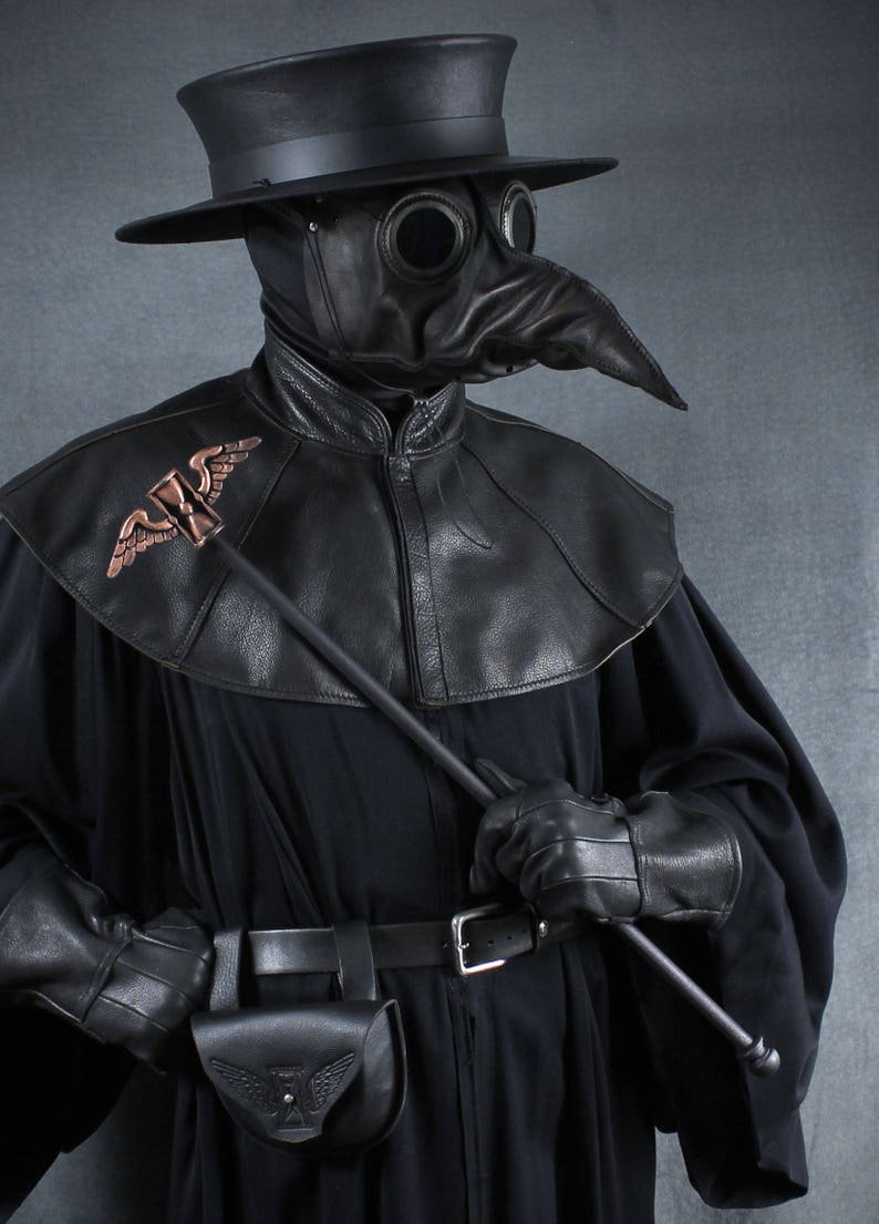 Plague Doctor Staff Topper Winged Hourglass image 0
