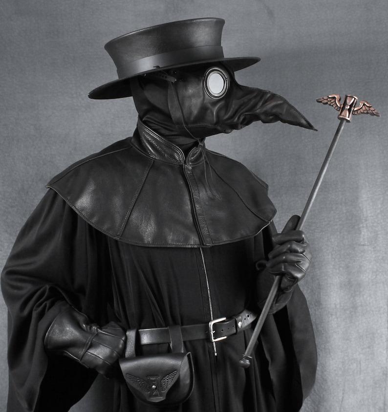 Plague Doctor mantle shoulder cape in garment leather capelet image 0