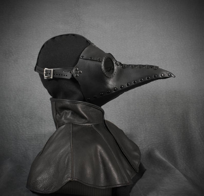 Plague Doctor mask Bubonis in leather image 0