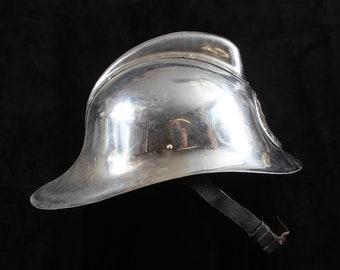 Antique Soviet Firefighter's Helmet Chrome #103