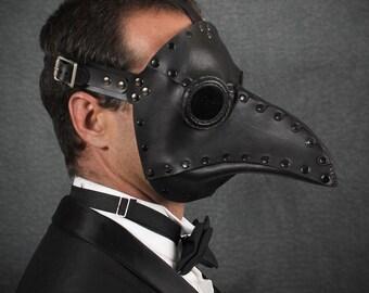 "Plague Doctor mask in Black ""Krankheit"""