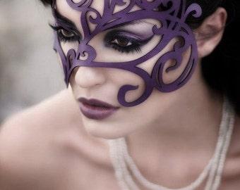 Swirly Leather mask