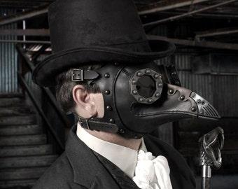 "Steampunk Plague Doctor Mask ""Dr. Beulenpest"""