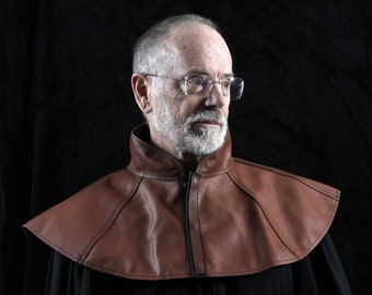Plague Doctor mantle brown leather