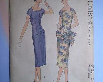 Vintage 50s Bombshell Dress Uncut Pattern 38 32 41