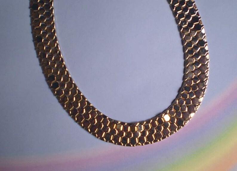 Vintage 50s Reinad Honeycomb Choker Necklace image 0