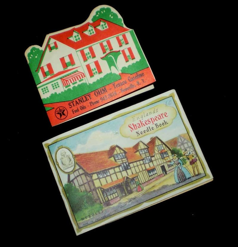 Lot Two Vintage Needle Books Texaco Gasoline and Englands image 0