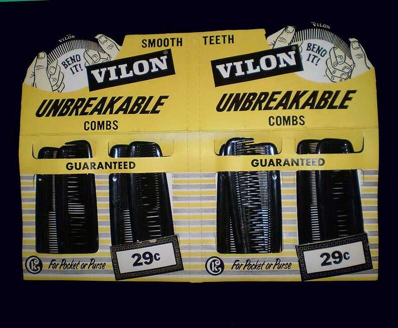 Vintage 60s Vilon Combs Barber Shop Store Display image 0