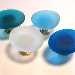 Six Beach Glass Knobs Sea Decor Cabinet Knobs Drawer Pulls