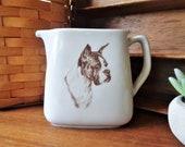 vintage boxer dog pitcher milk or creamer