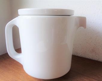 vintage  coffee teapot white thomas tc100 germany mid century modern classic white