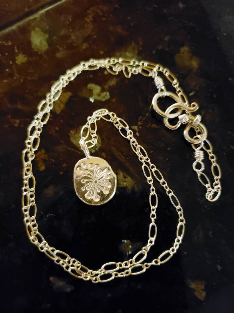 Dandelion Seed Charm Necklace image 0