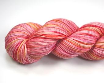 Smitten-- 2Ply Merino/nylon hand dyed sock yarn (400yds/100gm)