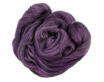 Raven--hand dyed sock weight yarn, BFL superwash (655yds/150gm)