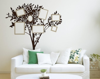 Large Picture Frame Tree Vinyl Wall Decals