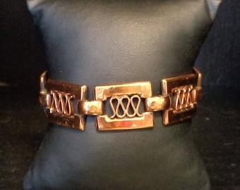 Vintage Renoir Signed Copper Bracelet - Athena - 1950s