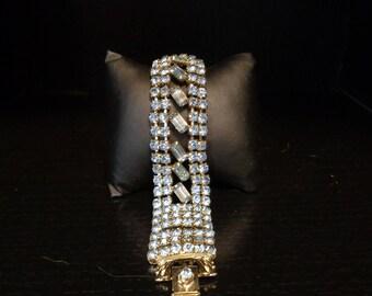 Vintage - Light Blue Rhinestone Bracelet