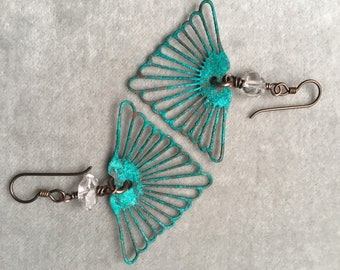 Herkimer Diamond Earrings Dangle Earrings Crystal Earrings Dangle Earrings DanielleRoseBean Geometric Earrings Crystal Earrings Drop Earring