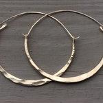 Gold Hoop Earrings / Large Hoops /Hammered Hoops / DanielleRoseBean large Hoops / 14k Gold fill / Gold Hoops / Big Hoops / Black Friday